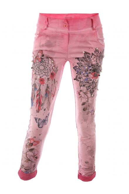 Дамски панталон ФРЕШ А-3 розов