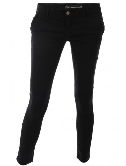 Дамски чино панталон F8870 черен
