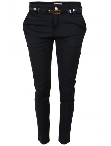 Дамски панталон 8760 тъмно син