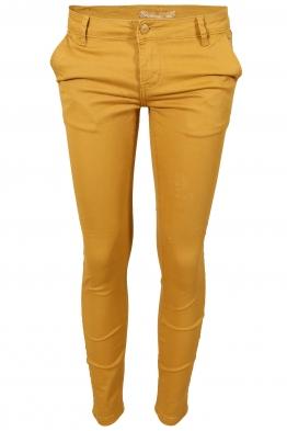 Дамски чино панталон F8870 горчица