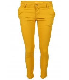 Дамски чино панталон F8870 жълт