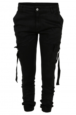 Дамски карго панталон  V - 1087 черен