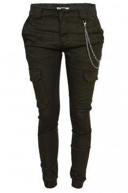 Дамски карго панталон DM 9679 зелен