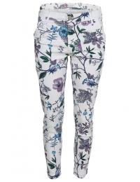 Дамски панталон на цветя SFC 1601 бял