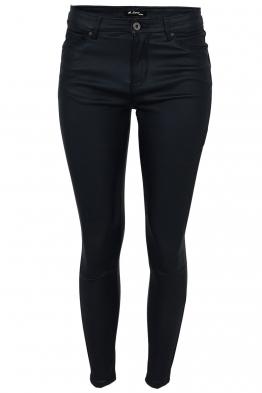 Дамски панталон с кожен ефект MS 1665-68 тъмно син