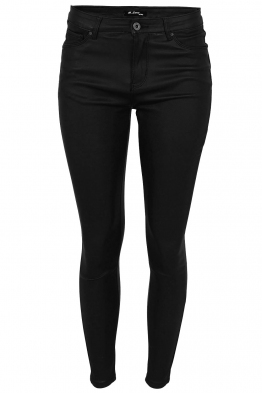 Дамски панталон с кожен ефект MS 1665-13 черно
