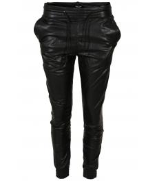 Дамски кожен панталон на ластик  J 3502