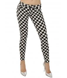 Дамски панталон 1605 шах - мат