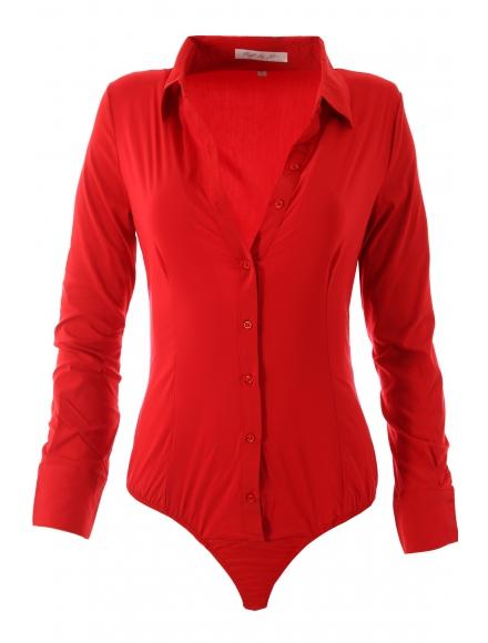 Дамска риза боди 16160 червена
