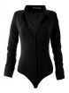 Дамска риза боди 16160 черна