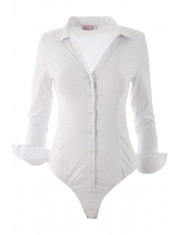 Дамска риза боди 8891 бяло