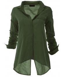 Дамска риза 1697 зелена