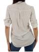 Дамска риза Анел екрю с черно райе