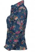 Дамска дънкова риза на цветя 1076-2