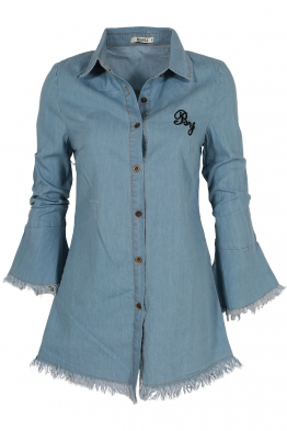 Дамска дънкова риза 1101