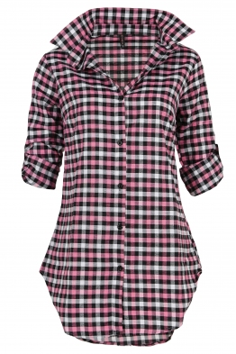 Дамска риза - туника карирана А-1