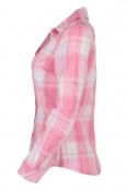 Дамска риза 5795 розово каре