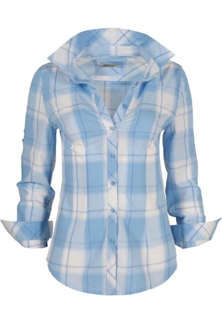 Дамска риза 5795 синьо каре