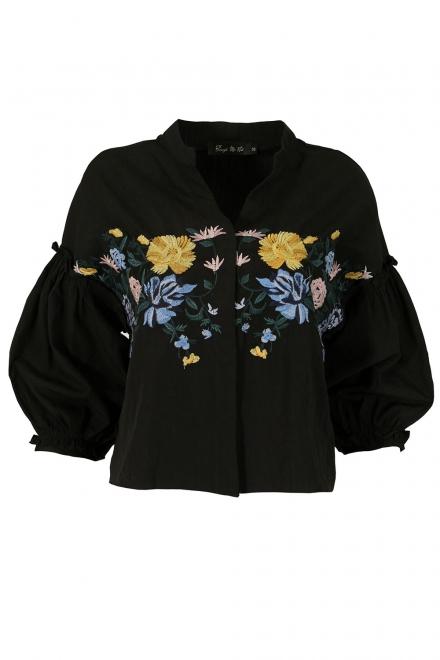 Дамска риза А-16 черна