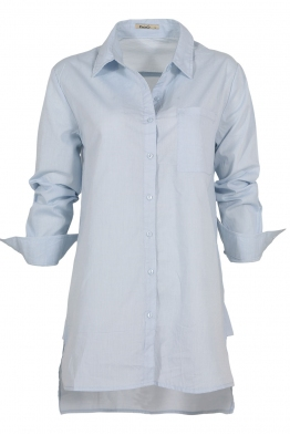 Дамска риза 8113 светло синя