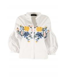 Дамска риза А-16 бяла
