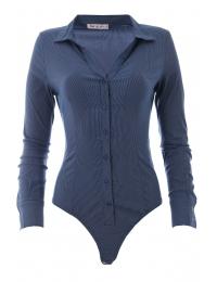 Дамска риза боди 8891 индиго