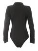 Дамска риза боди 8891 черна