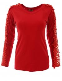 Дамска блуза с дълъг ръкав ЕРИКА червена