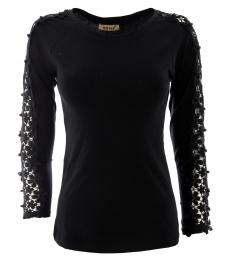 Дамска блуза с дълъг ръкав ЕРИКА черна
