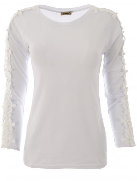 Дамска блуза с дълъг ръкав ЕРИКА бяла