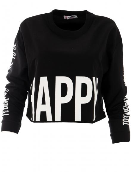 Дамска блуза HAPPY черна