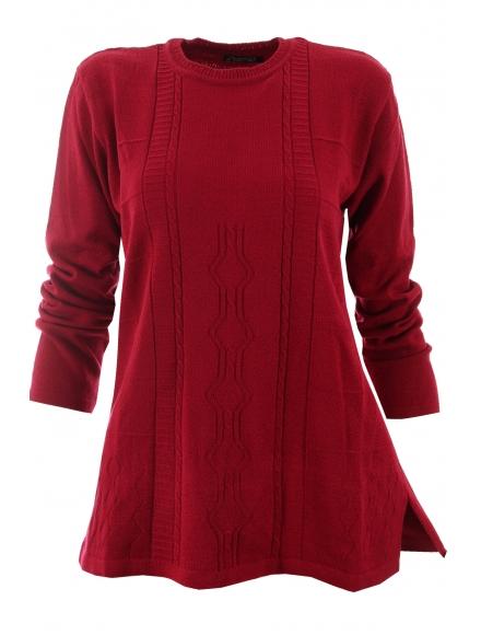 Дамска блуза АМАНДА винено червена