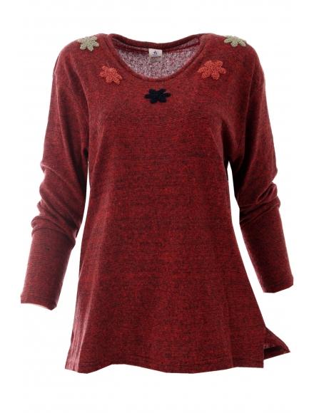Дамска блуза АСМИНА бордо
