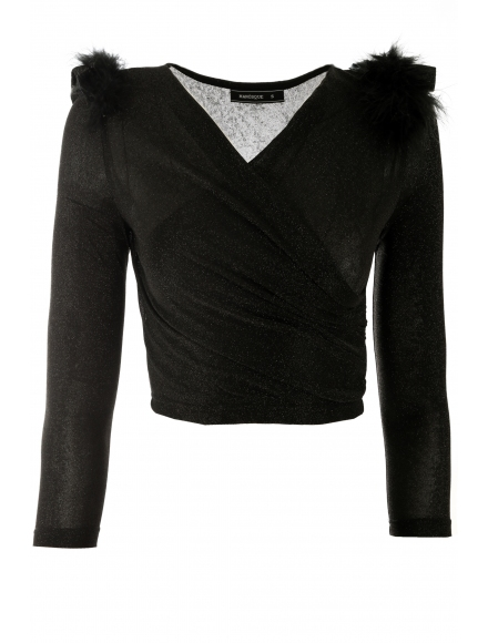 Дамска блуза БРИТНИ черна