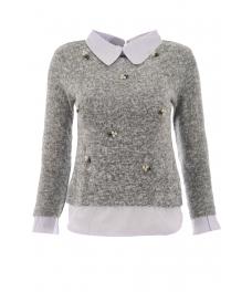 Дамска блуза Верде А-3 сива