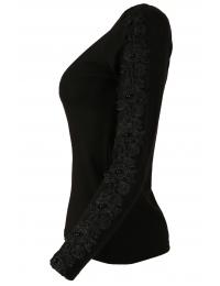 Дамска блуза с дълъг ръкав ЕРИКА  А-2 черна