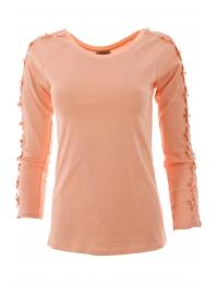 Дамска блуза с дълъг ръкав ЕРИКА ябълков цвят