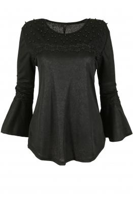 Дамска блуза с дълъг ръкав ЛИЛИАН черна