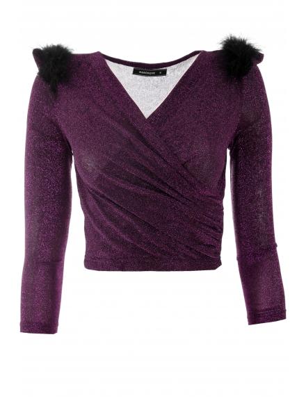 Дамска  блуза Бритни лилава