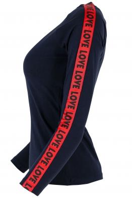 Дамска блуза ФИТ ЛАВ тъмно синя