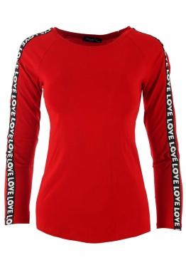 Дамска блуза ФИТ ЛАВ червена