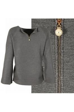 Дамска блуза БЕЛЛА сива