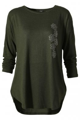 Дамска блуза ESMIRA зелена