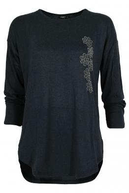 Дамска блуза ESMIRA тъмно синя