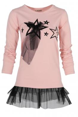 Дамска блуза с дълъг ръкав HAPPY STARS ябълков цвят