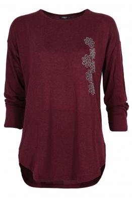 Дамска блуза ESMIRA бордо
