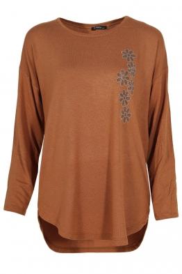 Дамска блуза ESMIRA карамел