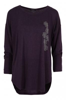 Дамска блуза ESMIRA тъмно лилава
