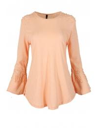Дамска блуза с дълъг ръкав ЛИЛИАН А-1 ябълков цвят