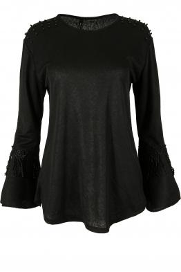 Дамска блуза с дълъг ръкав ЛИЛИАН А-1черна